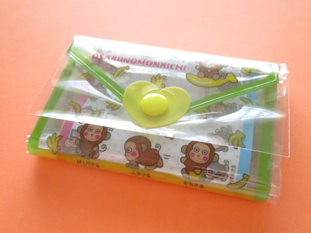 Photo1: Kawaii Cute Mini Letter Set with Plastic Case Sanrio Original *Osaru no Monkichi (35059-1-OM)