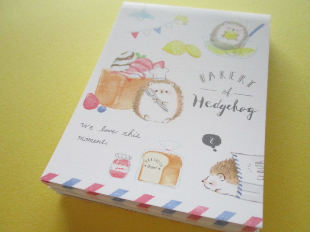 Photo1: Petit Friends Marche Stationery Mini Memo Pad Q-LiA *はりねずみ Hedgehog (34754)
