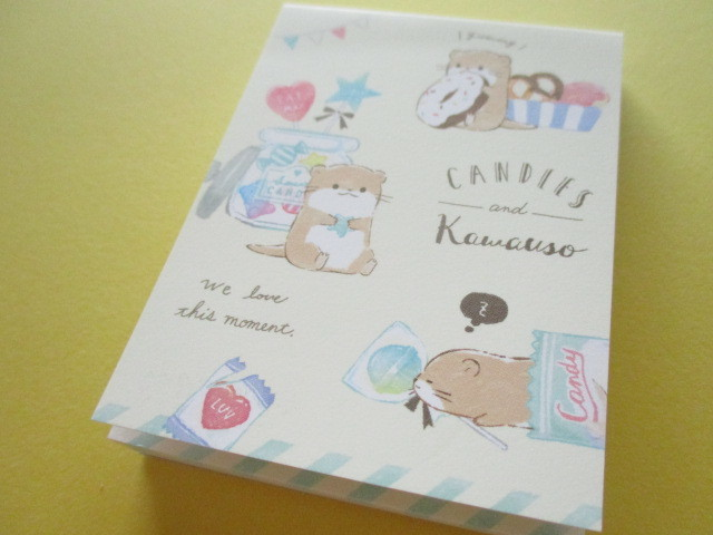 Photo1: Petit Friends Marche Stationery Mini Memo Pad Q-LiA *かわうそ Otter (34757)