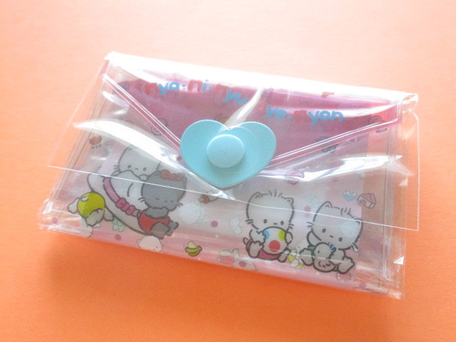 Photo1: Kawaii Cute Mini Letter Set with Plastic Case Sanrio Original *Nya Ni Nyu Nye Nyon (35039-7 -NN)