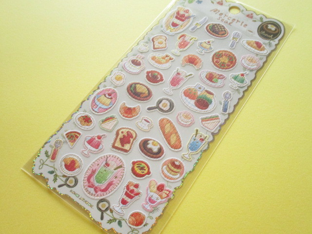 Photo1: Kawaii Cute Mercerie Stickers Sheet Kamio *Lunch (04451)