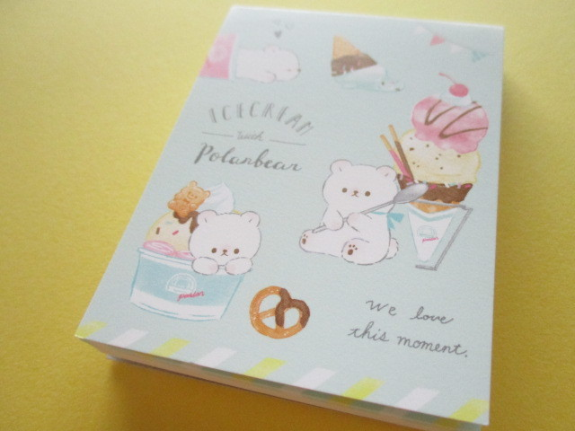 Photo1: Petit Friends Marche Stationery Mini Memo Pad Q-LiA *しろくま Polar bear (34756)