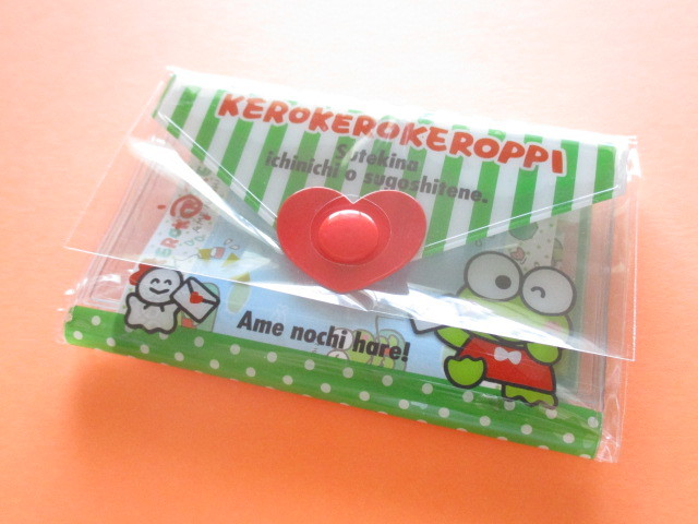Photo1: Kawaii Cute Mini Letter Set with Plastic Case Sanrio Original *Kerokerokeroppi (35059-1-Ke)