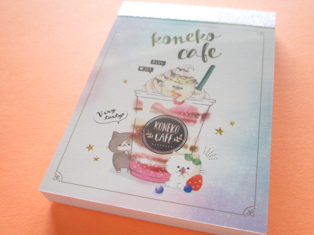 Photo1: Kawaii Cute Koneko Cafe Mini Memo Pad Crux *Strawberry (56029)