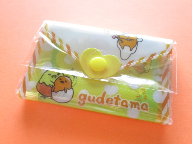 Photo1: Kawaii Cute Mini Letter Set with Plastic Case Sanrio Original *Gudetama (35059-1-Gu)