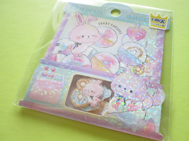 Photo1: Kawaii Cute Sticker Flakes Sack Crux *Playful Sweet (05914)