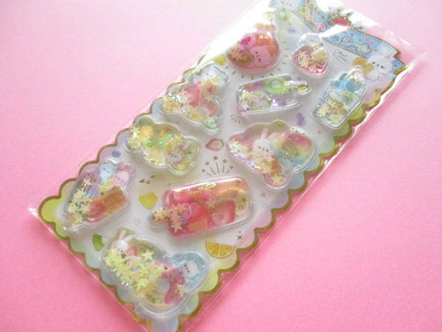 Photo1: Kawaii Cute Water in Stickers Sheet Crux *Juicy Flavor (05920)