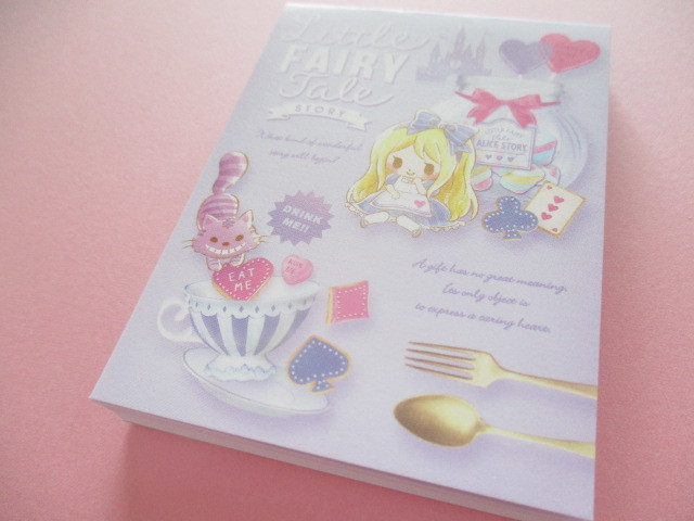 Photo1: Kawaii Cute Mini Memo Pad Little Fairy Tale Q-LiA *Alice (34839)