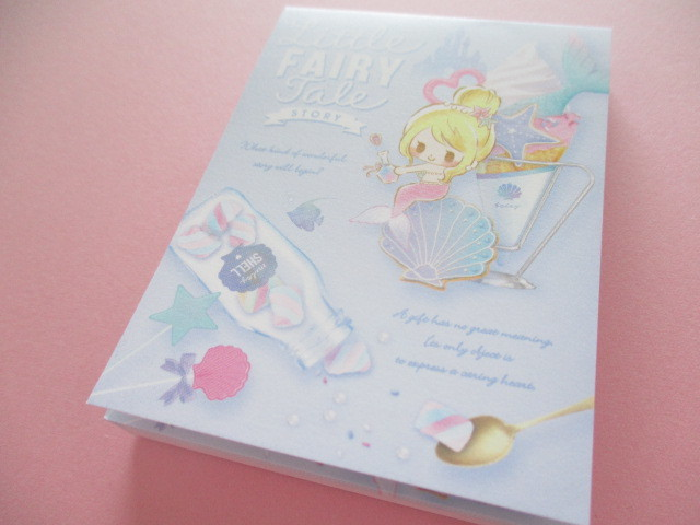 Photo1: Kawaii Cute Mini Memo Pad Little Fairy Tale Q-LiA *Little Mermaid (34842)