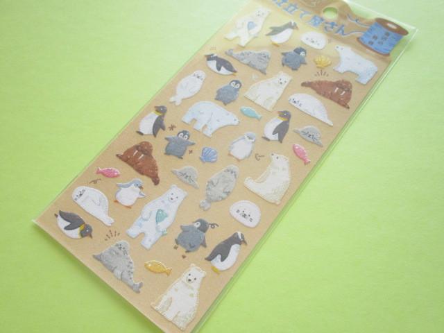 Photo1: Kawaii Cute ちいさな仕立て屋さん Stickers Sheet Mind Wave *海辺の動物 (79759)