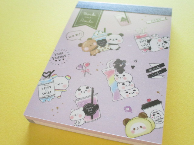 Photo1: Kawaii Cute Mini Memo Pad Mochi Mochi Panda Kamio Japan *Party Cafe (24151)