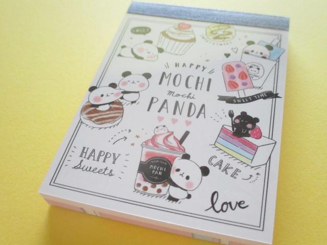Photo1: Kawaii Cute Mini Memo Pad Mochi Mochi Panda Kamio Japan *Yammy Cafe (24150)