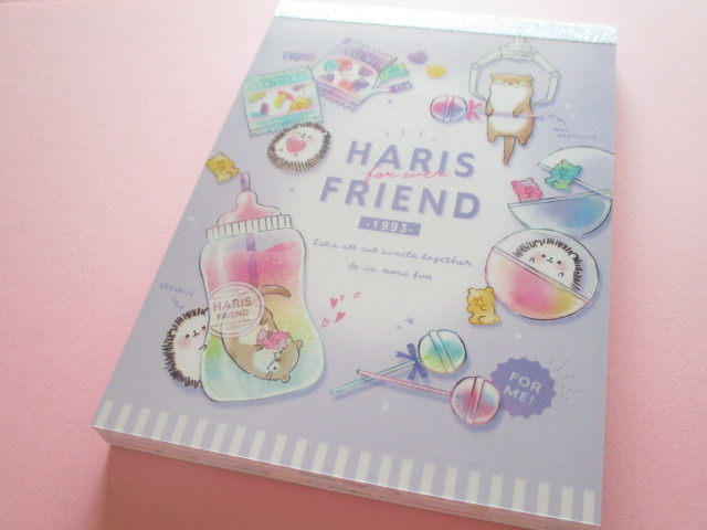 Photo1: Kawaii Cute Large Memo Pad Q-LiA *Haris Friend (30502)
