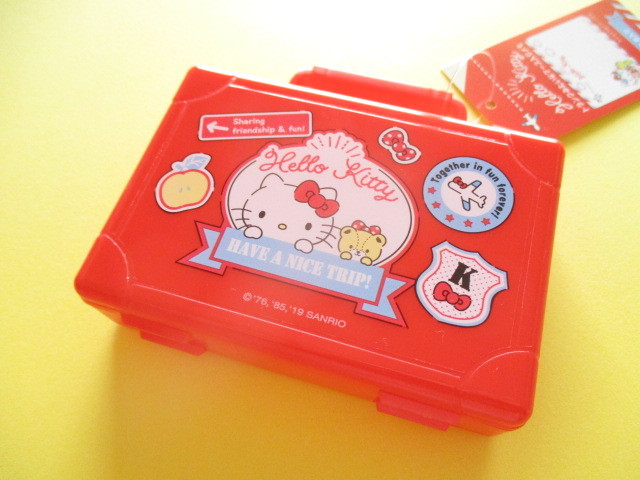 Photo1: Kawaii Cute Trunk Case Mini Memo Pad Set Sanrio Original *Hello Kitty (45690-0)