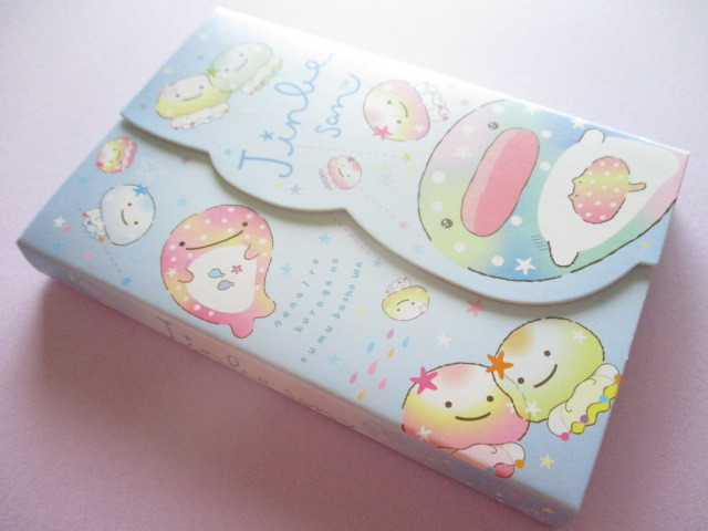 Photo1: Kawaii Cute Medium Memo Pad Jinbesan San-x *Nanairo Kurage (MW52501)