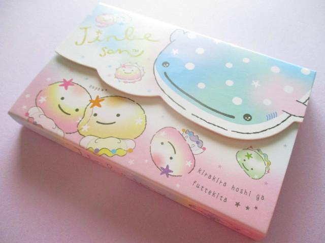 Photo1: Kawaii Cute Medium Memo Pad Jinbesan San-x *Nanairo Kurage (MW52401)