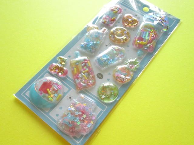 Photo1: Kawaii Cute Capsule Sparkle Catch Stickers Sheet Crux *Ice Candy (05929)
