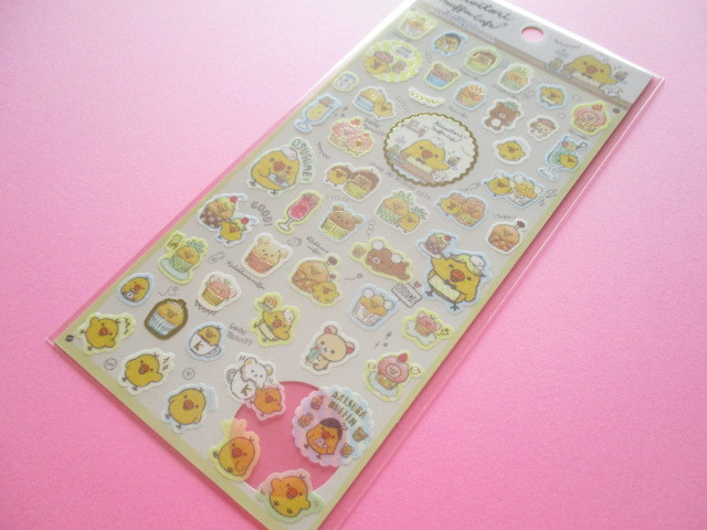 Photo1: Kawaii Cute Sticker Sheet Rilakkuma San-x *Kiiroitori Muffin Cafe (SE38502)