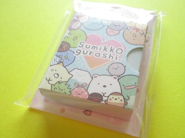 Photo1: Kawaii Cute Mini Memo Pad Set Sumikkogurashi San-x *Picture book Set (MW50901)