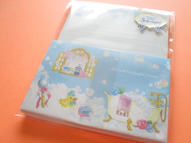 Photo1: Kawaii Cute Letter Set Mind Wave *Bubble Bath (56358)