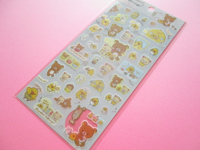 Photo1: Kawaii Cute Sticker Sheet Rilakkuma San-x *Kiiroitori Muffin Cafe (SE38501)