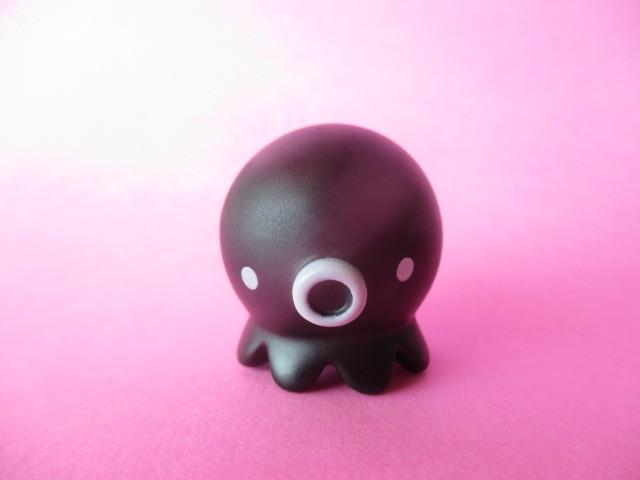 Photo1: Octopus Takochu Plastic Mini Figure Toy *Black