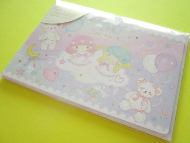 Photo1: Kawaii Cute Mini Letter Set Little Twin Stars × たけいみき Miki Takei Sanrio *Fantasy (LS-15352)
