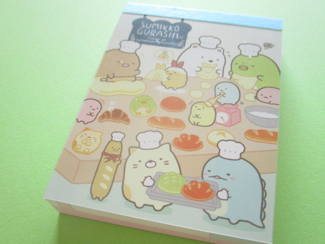 Photo1: Kawaii Cute Mini Memo Pad Sumikkogurashi San-x *すみっこパンきょうしつ (MW51901-1)