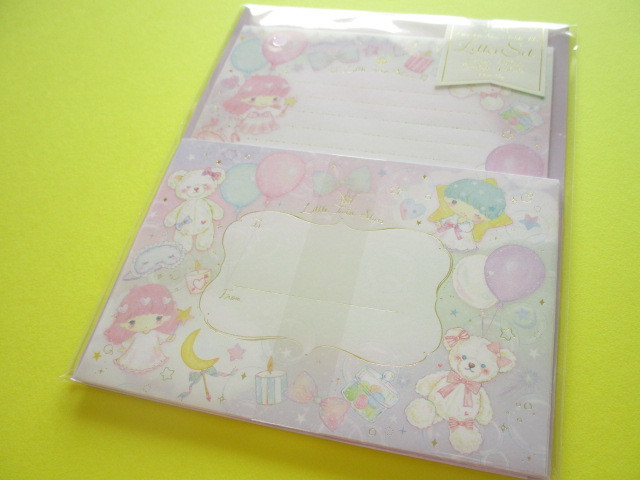 Photo1: Kawaii Cute Letter Set Little Twin Stars × たけいみき Miki Takei Sanrio *Fantasy (LS-15348)