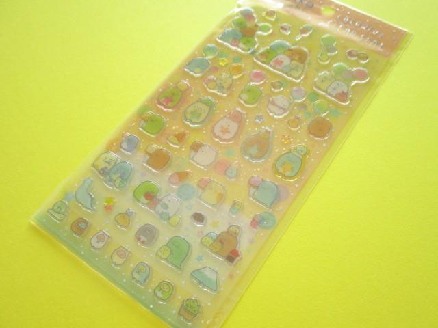 Photo1: Kawaii Cute Colorful Clear Sticker Sheet San-x *Sumikkogurashi  (SE39006)