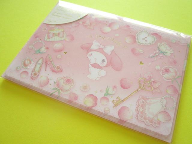 Photo1: Kawaii Cute Mini Letter Set My Melody ×たけいみき Miki Takei Sanrio *Girly Fleur (LS-15353)