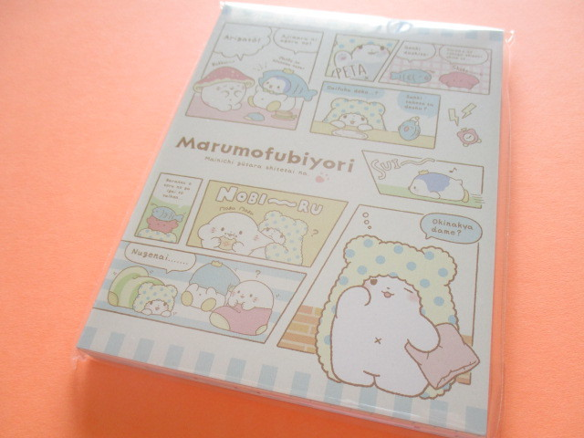 Photo1: Kawaii Cute Large Memo Pad Marumofubiyori Sanrio Original *Comic A (78853-8)