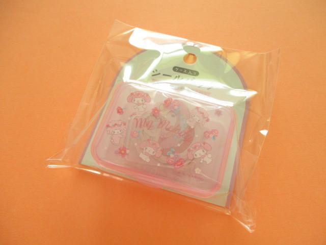 Photo1: Kawaii Cute Sticker Flakes Pack in the Plastic Case Sanrio Original *My Melody (03756-7)