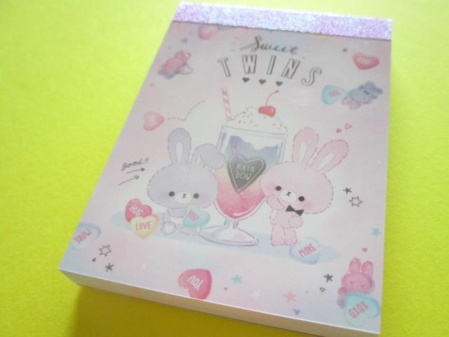 Photo1: Kawaii Cute Mini Memo Pad Q-LiA *Sweet Twins (40014)