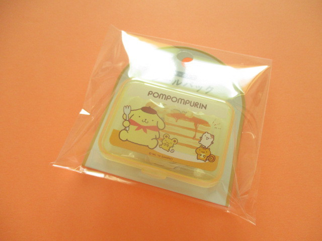 Photo1: Kawaii Cute Sticker Flakes Pack in the Plastic Case Sanrio Original *POMPOMPURIN (03763-0)
