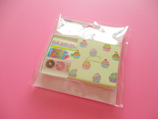 Photo1: Kawaii Cute Beloved Hacomaste Masking Tape Sticker Q-LiA *Sweets (41035)