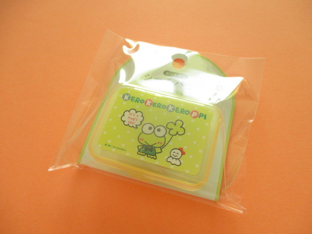 Photo1: Kawaii Cute Sticker Flakes Pack in the Plastic Case Sanrio Original *Kerokerokeroppi (03768-1)