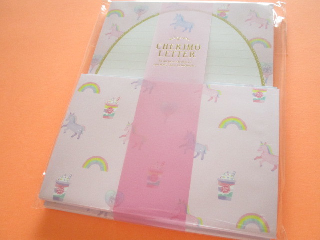 Photo1: Kawaii Cute Cherimo  Letter Set Q-LiA *Unicorn (40046)