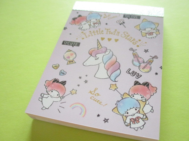 Photo1: Kawaii Cute Mini Memo Pad Little Twin Stars Sanrio *Unicorn (63681)