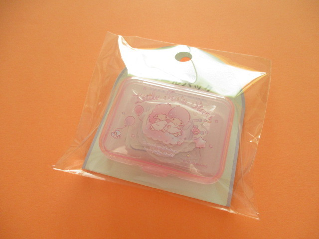 Photo1: Kawaii Cute Sticker Flakes Pack in the Plastic Case Sanrio Original *Little Twin Stars (03755-9)