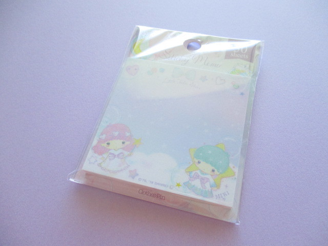 Photo1: Kawaii Cute Sticky Memo Set Little Twin Stars × たけいみき Miki Takei Sanrio *Fantasy (FS-15356)