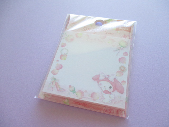 Photo1: Kawaii Cute Sticky Memo Set  My Melody× たけいみき Miki Takei Sanrio *Girly Fleur (FS-15357)