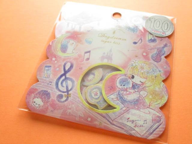 Photo1: Kawaii Cute Sticker Flakes Sack Kamio Japan *Day Dream Sugar Kiss (24546)