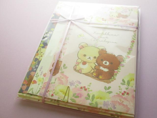 Photo1: Kawaii Cute Regular Letter Set San-x Rilakkuma *Korilakkuma meets Chairoikoguma 3 (LH68001)