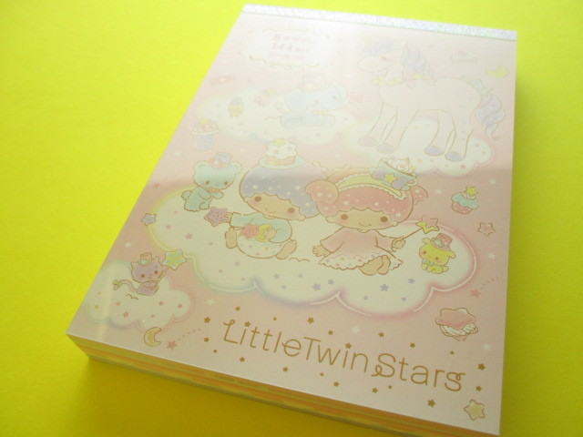 Photo1: Kawaii Cute Large Memo Pad Sanrio Original *Little Twin Stars (18037-8)