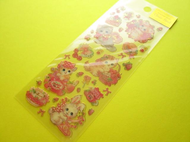 Photo1: Kawaii Cute Clear Sticker Sheet  Amenomori Fumika Clothes Pin *Berry (US-13725)