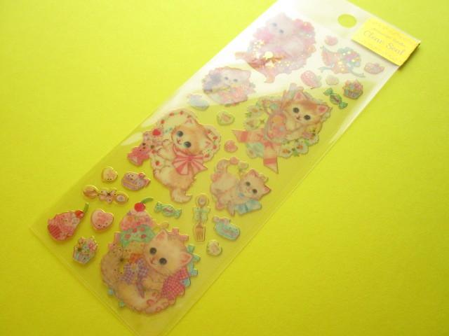 Photo1: Kawaii Cute Clear Sticker Sheet  Amenomori Fumika Clothes Pin *Sweets (US-13724)