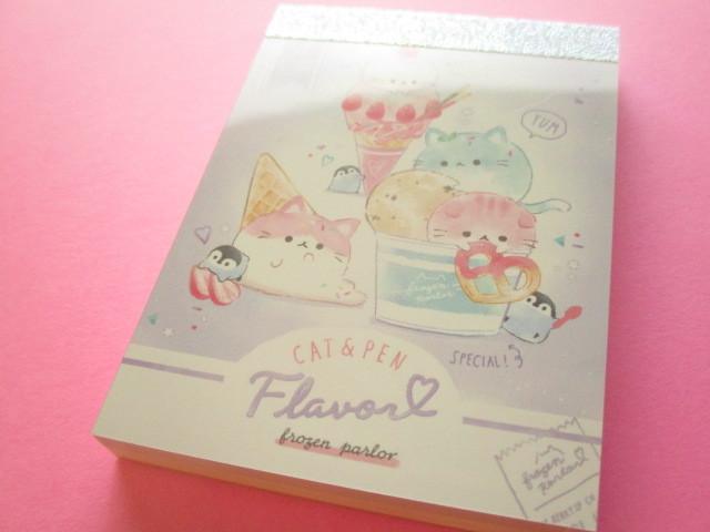Photo1: Kawaii Cute Mini Memo Pad Q-LiA *Cat & Pen Flavor (40053)
