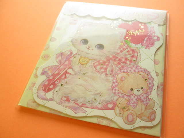 Photo1: Kawaii Cute Mini Letter Set Amenomori Fumika Clothes Pin *Lovely Cat (LS-14096)