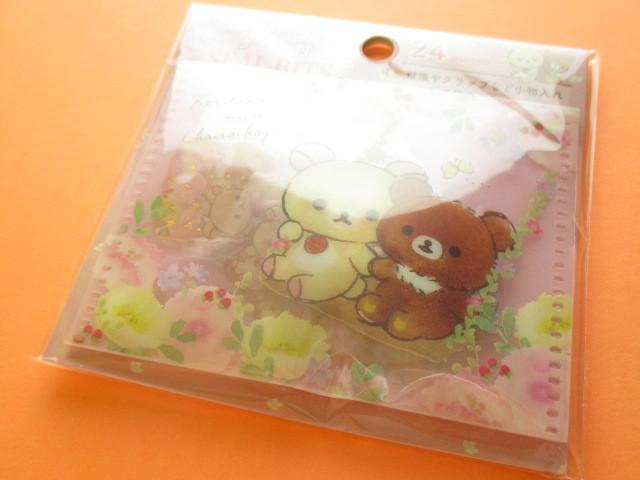Photo1: Seal Bits Kawaii Cute Sticker Flakes Sack with Case San-x *Rilakkuma (SE40002)